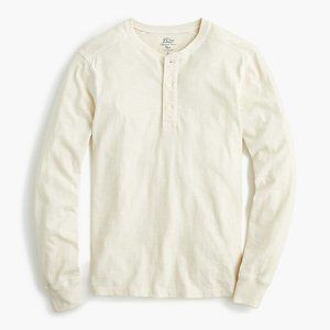 J Crew Garment-dyed slub cotton henley